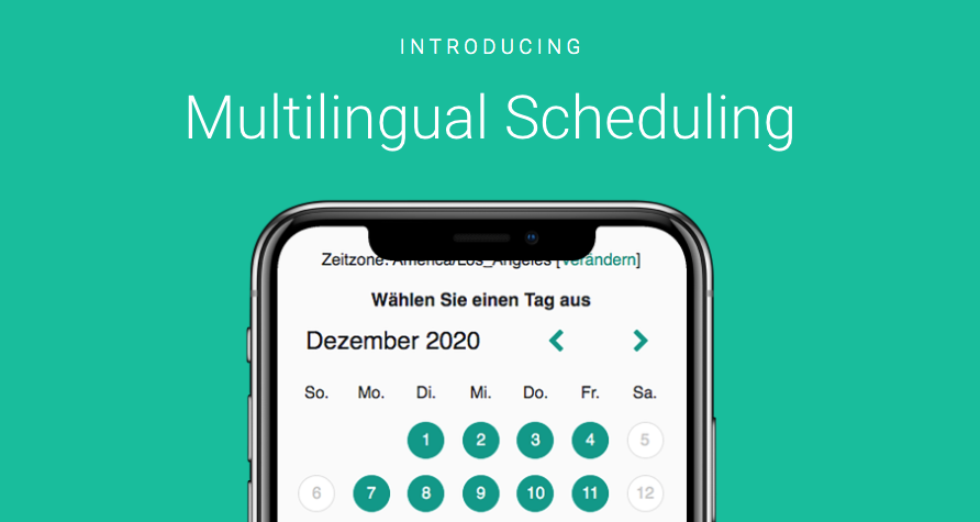 German Spanish French Scheduling Pages