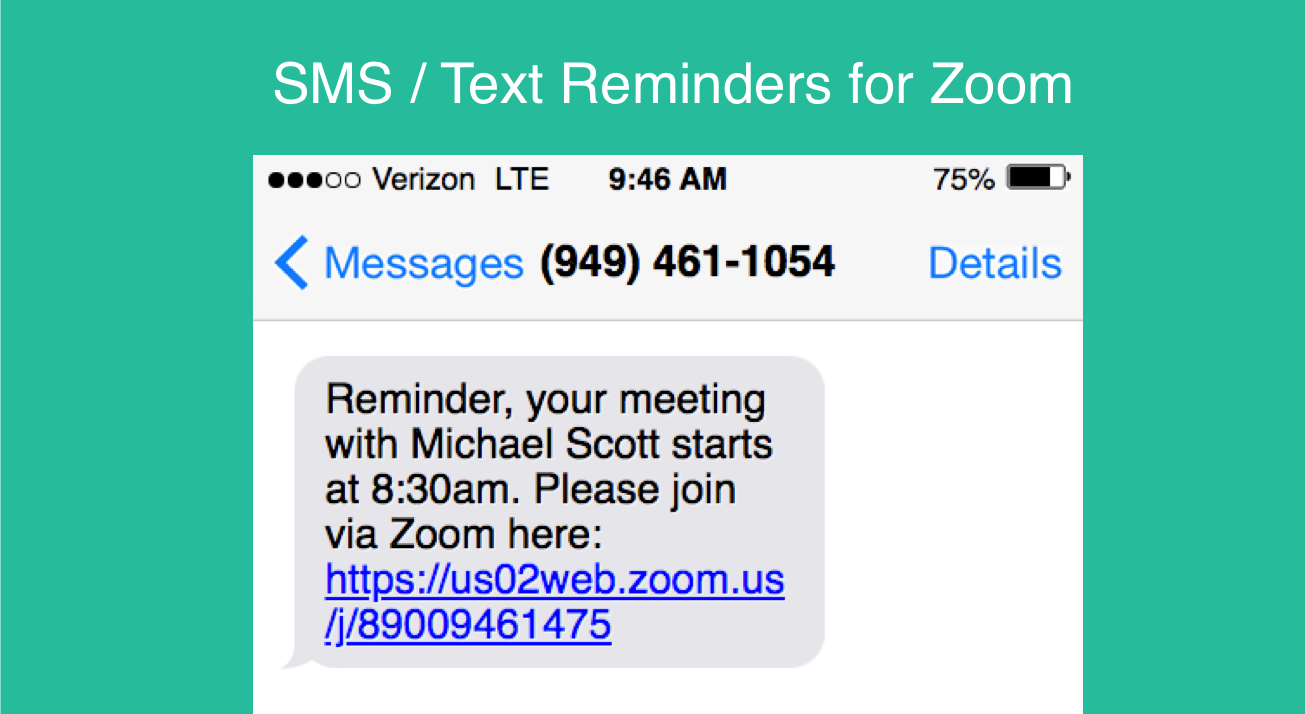 Zoom Text Reminders