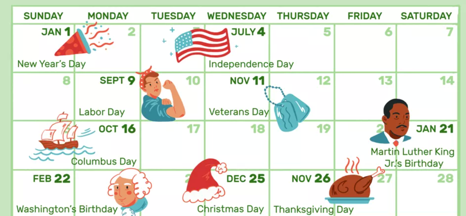 Holiday Availability
