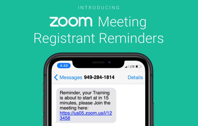 Sending SMS Reminders to Zoom Event Registrants