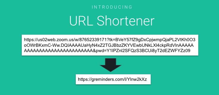 URL Shortner for SMS Reminders