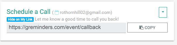 Schedule a call link