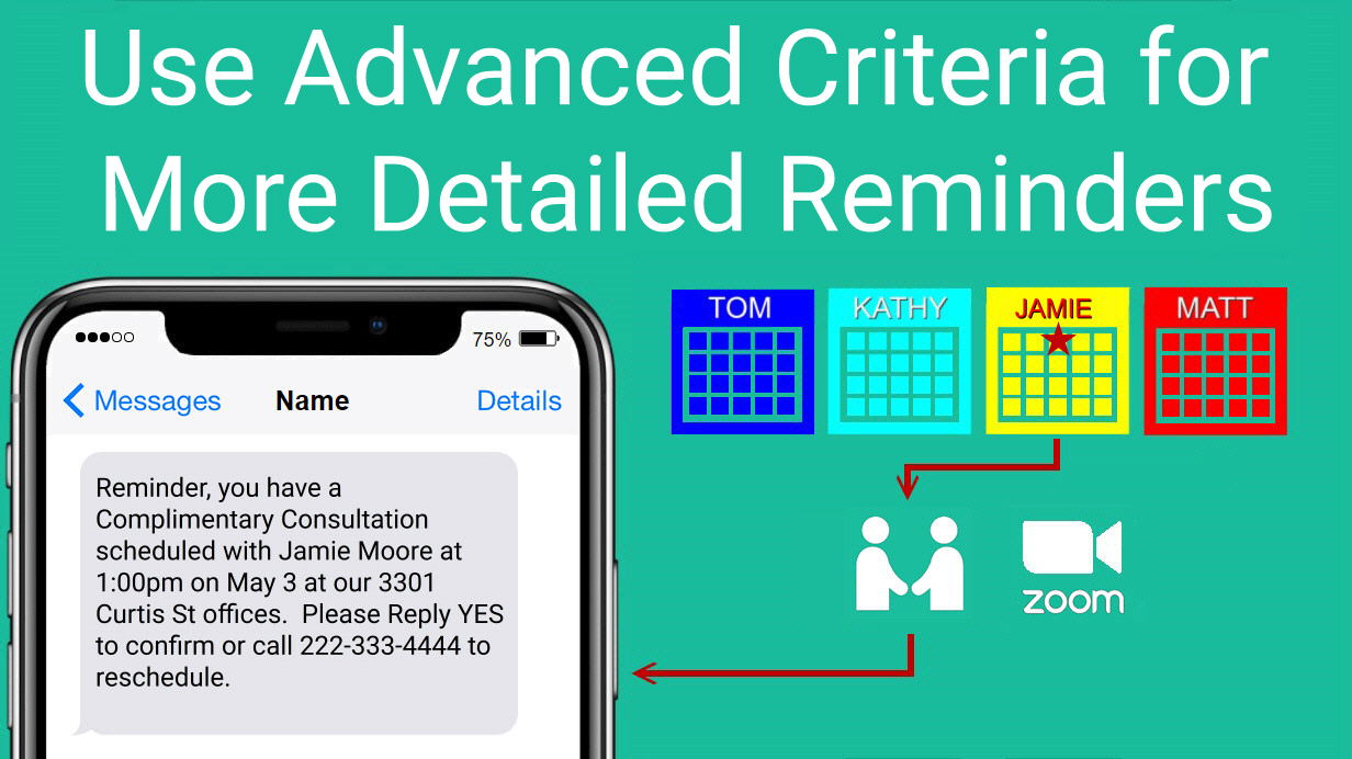 Advanced Criteria for SMS Appointment Reminders